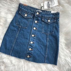 Zara Denim Skirt NWT